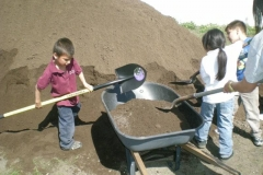 Kids helping out at LEOUT Farm